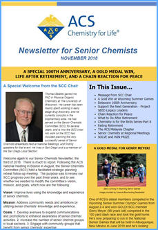 Senior Chemists Newsletter