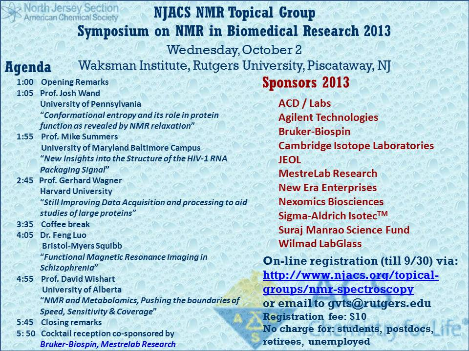 NMR 2013 Fall Symposium